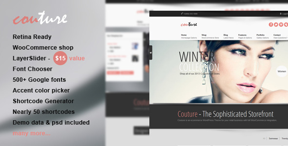 Couture WordPress WooCommerce Theme
