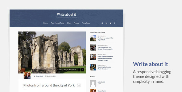 Write About It – Responsive Blogging Theme