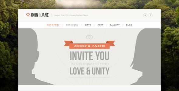 Wedding – Responsive Single Page WordPress Theme