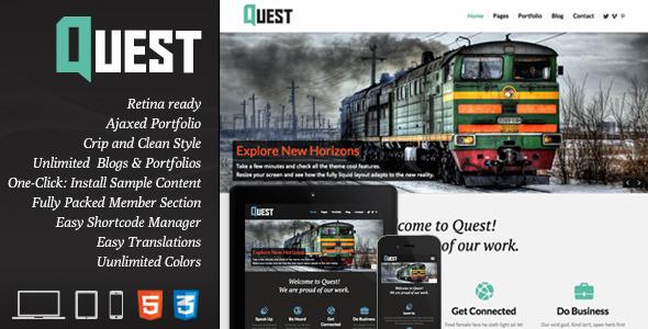 Quest – All Purpose WordPress Theme