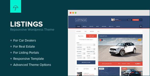 Listings – WordPress Responsive Listings Theme