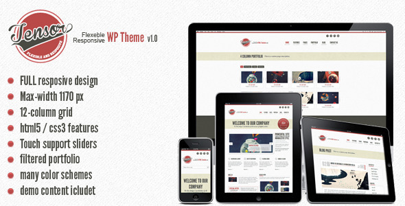 Tensor – Responsive WordPress Theme