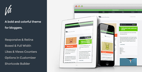 Vis – Responsive & Retina Ready Blog Theme