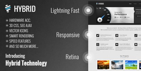 Hybrid Responsive Retina One-Page WordPress Theme!
