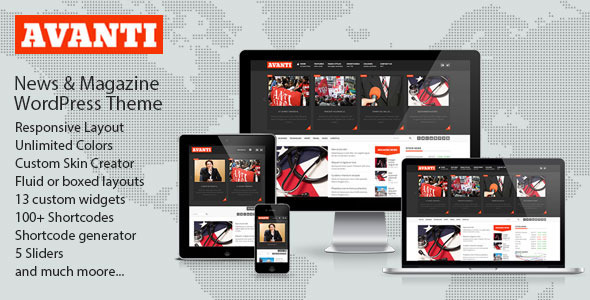 Avanti Mutlipurpose News & Magazine Theme
