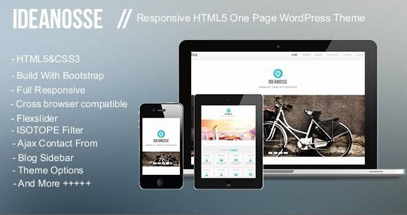 Ideanosse – Responsive One Page WordPress Theme