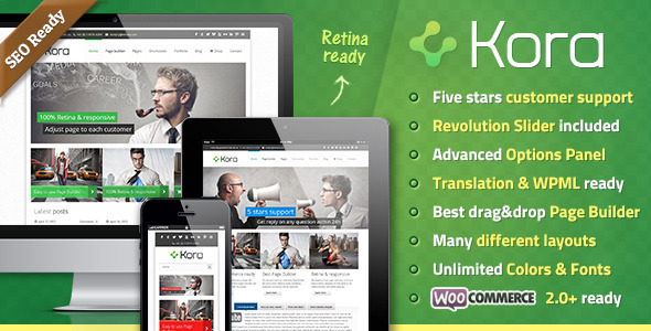 Kora Premium WordPress Theme