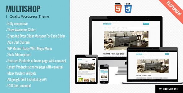 Multishop – Premium Responsive WooCommerce theme