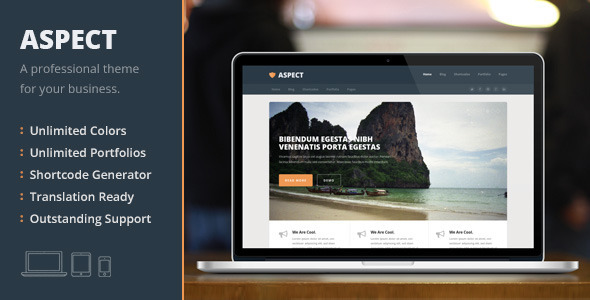 Aspect, a Professional WordPress Business Theme
