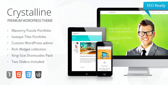 Crystalline – Ultimate Business WordPress Theme