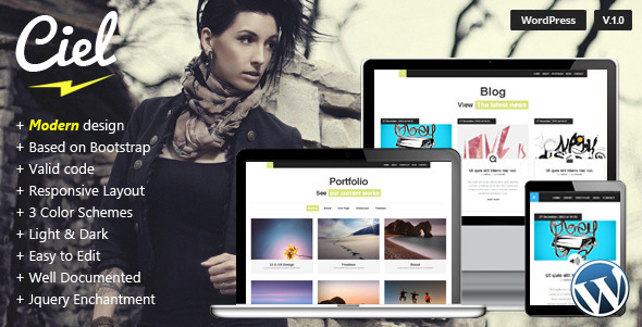 Ciel – Responsive WordPress Single Theme
