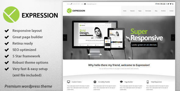 Expression – Responsive Business WordPress Theme