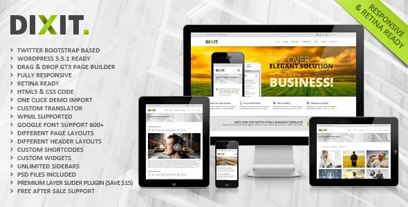 Dixit – Responsive Multipurpose WordPress Theme