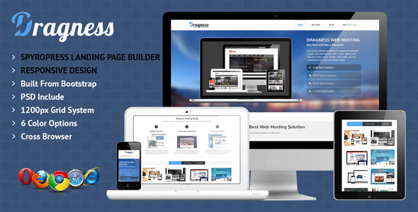 Dragness – Premium WordPress Landing Page