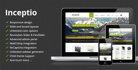 Inceptio – Responsive Multipurpose WordPress Theme