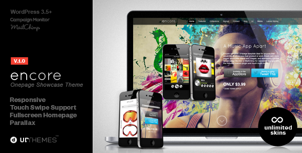 Encore Responsive Product Showcase WordPress Theme