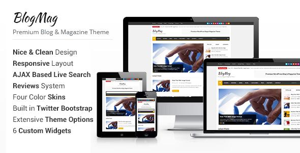 BlogMag – WordPress Blog and Magazine Theme
