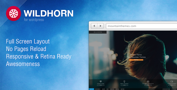 Wildhorn – Full Screen, Responsive & Retina