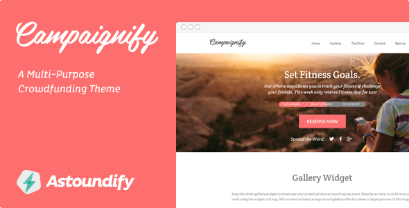 Campaignify – Multi-purpose Crowdfunding Theme