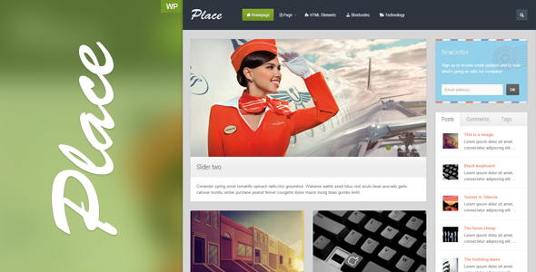 Place – Responsive Blogging WordPress Theme