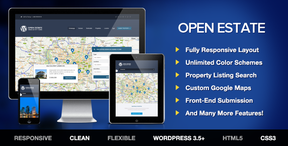 OpenEstate Responsive Real Estate WordPress Theme