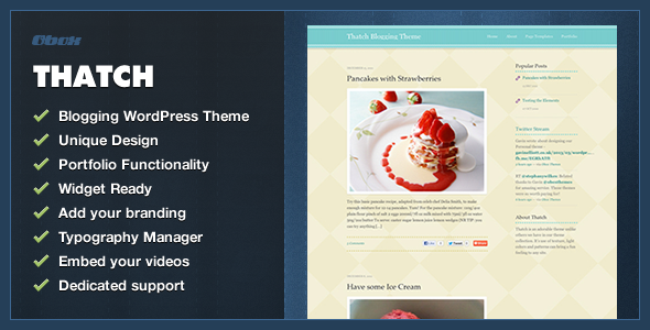 Thatch – WordPress Blogging Theme