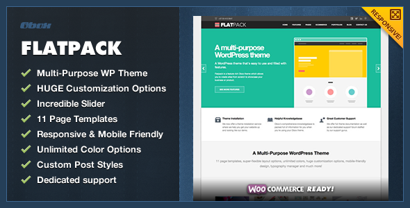 FlatPack – MultiPurpose Business WordPress Theme