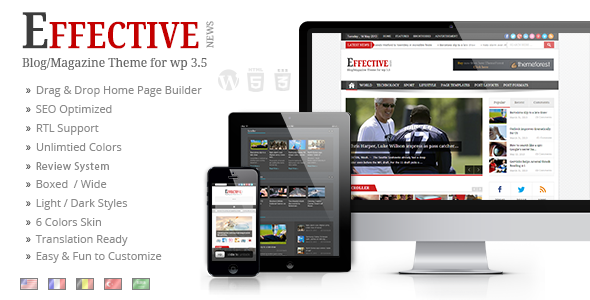 EffectiveNews – Responsive WP News Magazine blog