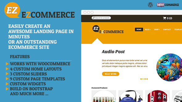 EZ Commerce Responsive WordPress Theme
