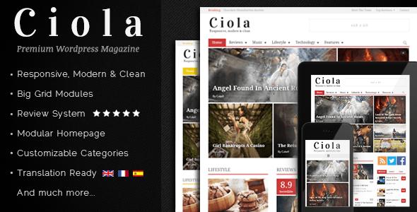 Ciola – Premium Responsive WordPress Magazine
