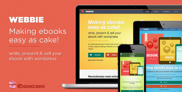 Webbie – WordPress theme for ebook authors