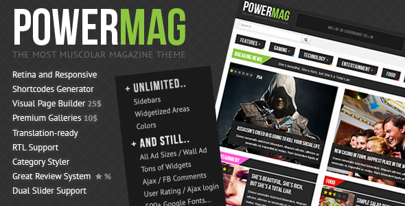 PowerMag: The Most Muscolar Magazine/Reviews Theme
