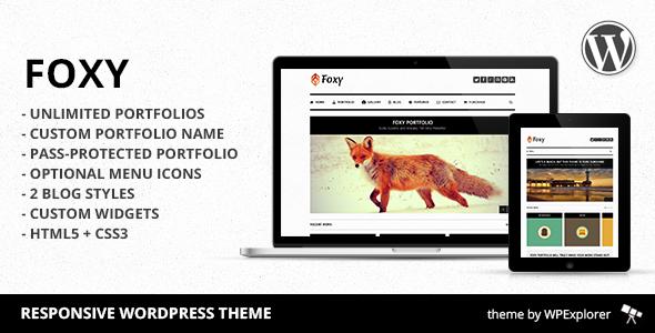 Foxy Portfolio – Responsive WordPress Theme