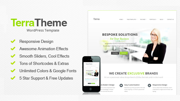 TerraTheme – Responsive Multi-Purpose WordPress Theme