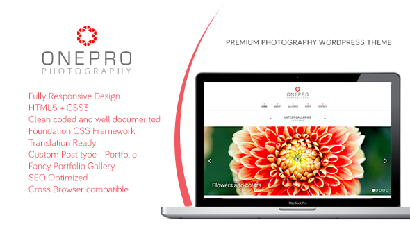 Onepro – Minimal Photography WordPress Theme