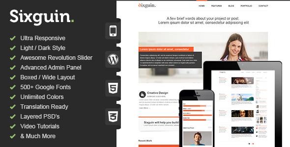 Sixguin – Responsive Portfolio & Blog Theme
