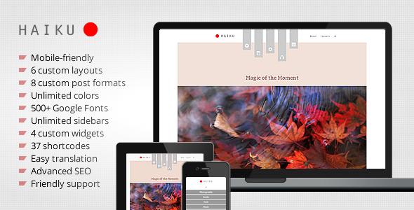 Haiku – Portfolio and Blogging WordPress Theme