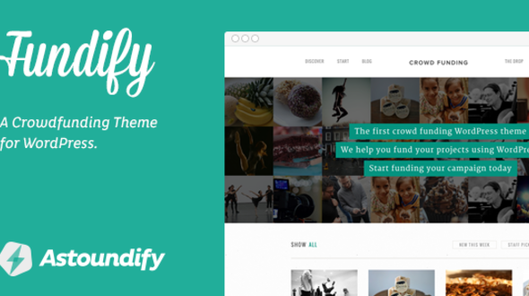 Fundify – Crowdfunding WordPress Theme