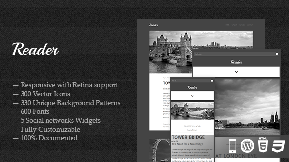 Reader – Responsive WordPress Theme