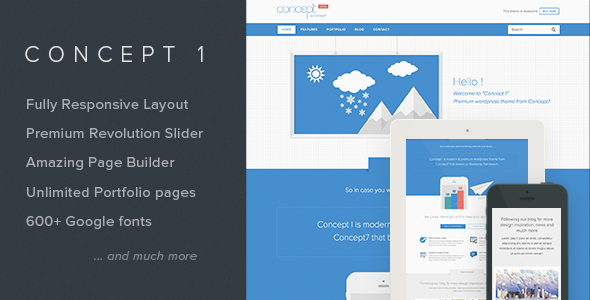 Concept 1 – Modern and Creative WordPress Theme
