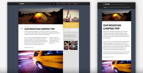 Rudder – Responsive HTML5/CSS3 Lifestyle Blog