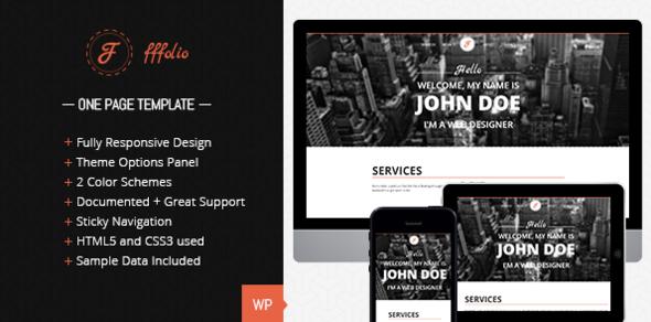 Fffolio – Responsive One Page portfolio