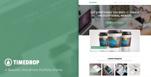 Timedrop – A WordPress Portfolio Theme