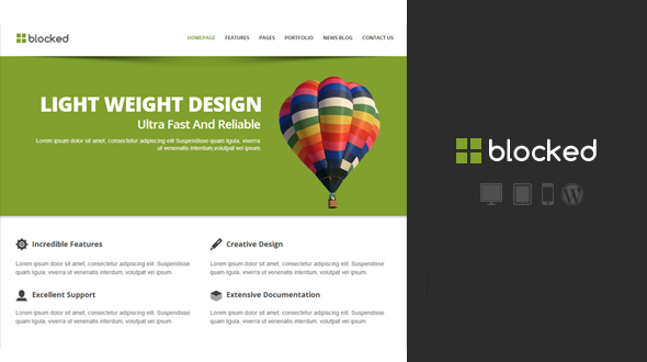 Blocked Responsive WordPress Theme