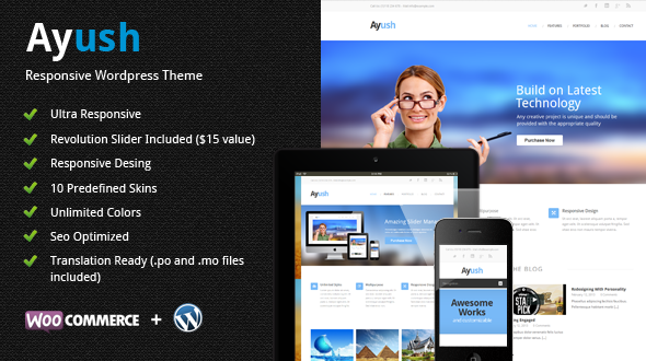 Ayush | Responsive Multipurpose Theme