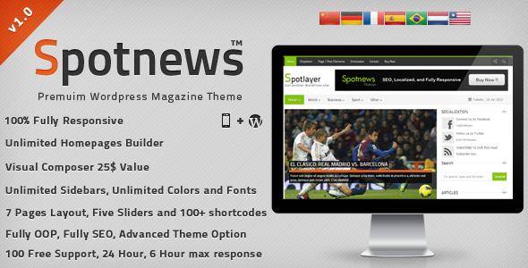 Spotnews – Responsive WordPress News,Magazine