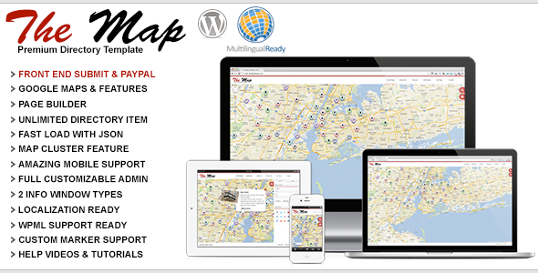 The Map – Premium Directory Template