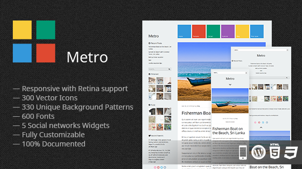 Metro – Responsive WordPress Theme