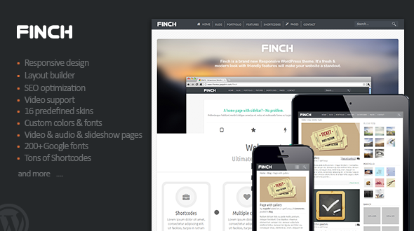 Finch – Responsive Multi-Purpose Theme