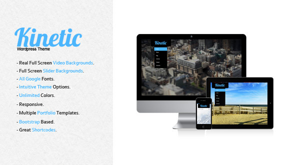Kinetic – Full Screen Background WordPress Theme